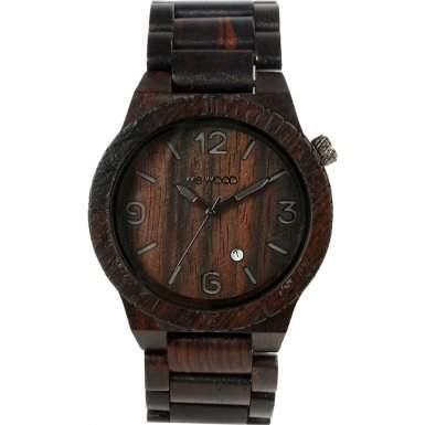 Wewood Herren-Armbanduhr Alpha Analog Quarz One Size, schwarz, schwarz