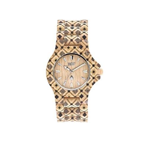 Armbanduhr Unisex Holz WeWood Date Pat Beige