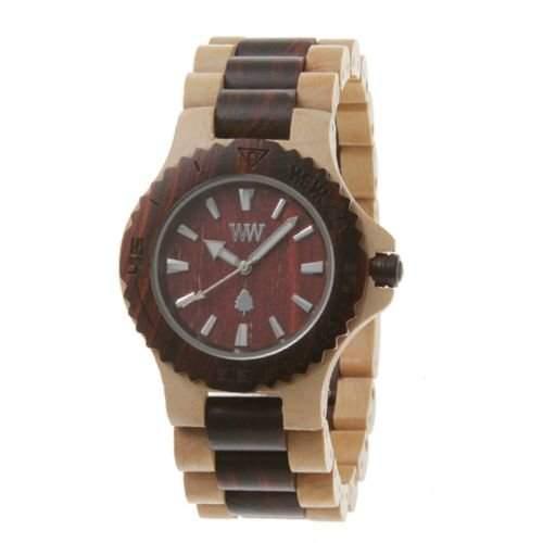 Wewood Herren-Armbanduhr Date Analog Quarz One Size, braun, beigebraun
