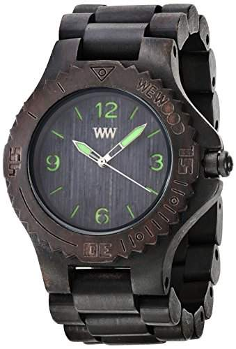 Wewood Herren-Armbanduhr Kale Analog Quarz One Size, schwarz, schwarz