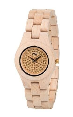 WeWood Moon Crystal Armbanduhr aus Holz - Beige