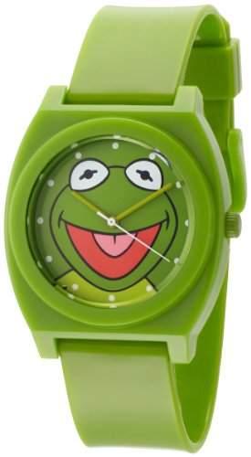 Muppets Herren MU1004 Kermit the Frog Dial Green Plastic Strap Armbanduhr