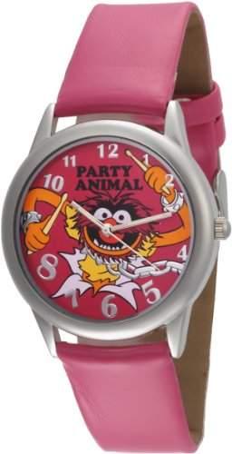 Muppets Damen MU1009 Animal Dial Fuschia Strap Armbanduhr