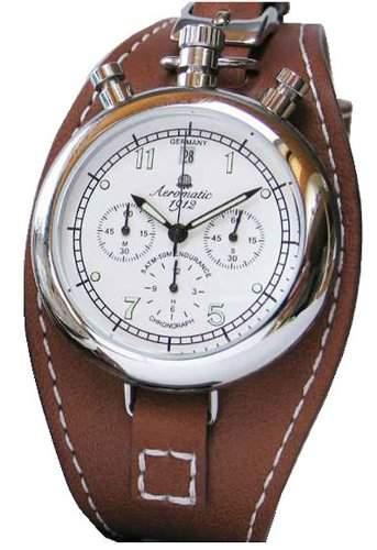 Retro Look Chronograph 40er Jahre Stil - Taschenuhrgehaeuse