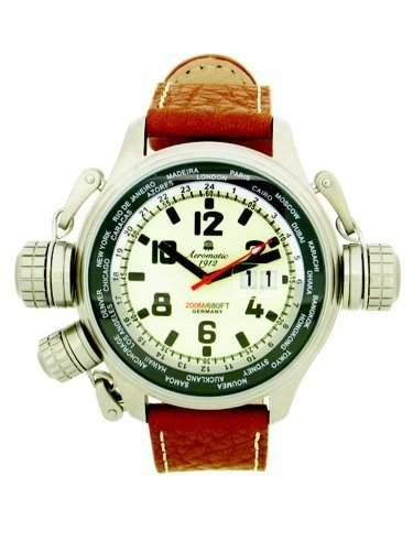 Aeromatic 1912 XXL Worldtour Uhr mit BigDate und Spezial-Kronen-System A1285