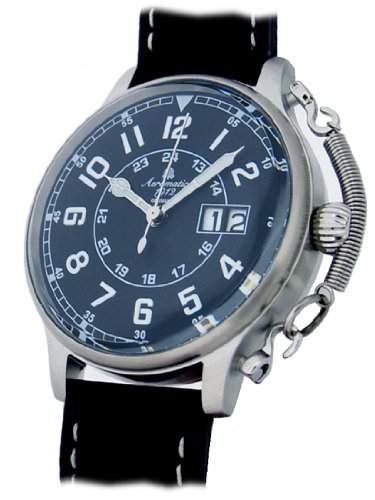 Retro Military Flieger Uhr Spezial Feder Sicherung A1290