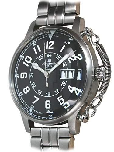 Retro Uhr mit aussergewoehnlicher Kronen Feder A1290-M