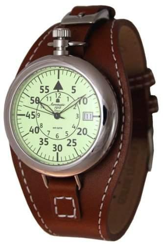 Retro Look Uhr 40er Jahre Stil - Taschenuhrgehaeuse - Datum A1401