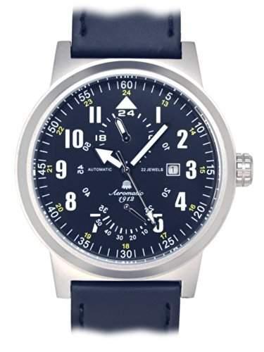 """48mm Automatik Uhr von Aeromatic 1912 """"Gangreserve-Index"""" A1416"""