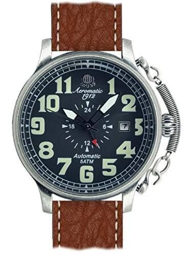 Aeromatic 1912 Automatik Uhr-Werk 24h Zeiger Spez Feder A1423-B