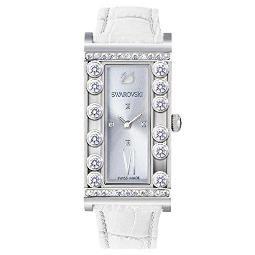 Uhr in Stahl Swarovski Lovely Crystals Square White 5096680