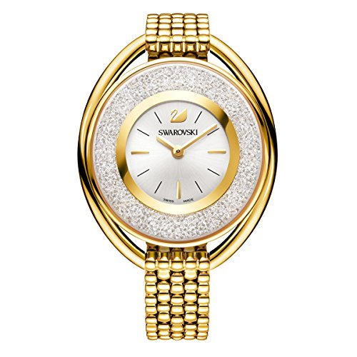 Swarovski Crystalline Oval Gold Tone Armband Watch