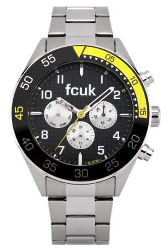 FCUK Herren-Armbanduhr Chronograph edelstahl silber FC1115B