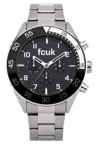 FCUK Herren-Armbanduhr Analog edelstahl Silber FC1115G