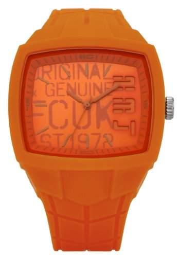 FCUK Unisex-Armbanduhr Analog silikon orange FC1129O