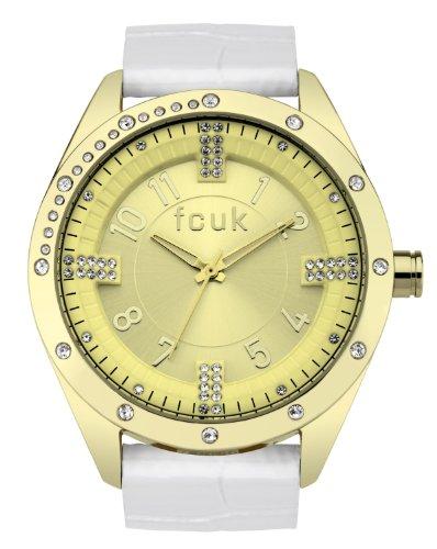 FCUK Damen Armbanduhr Analog Edelstahl Gold CD97 14FCX