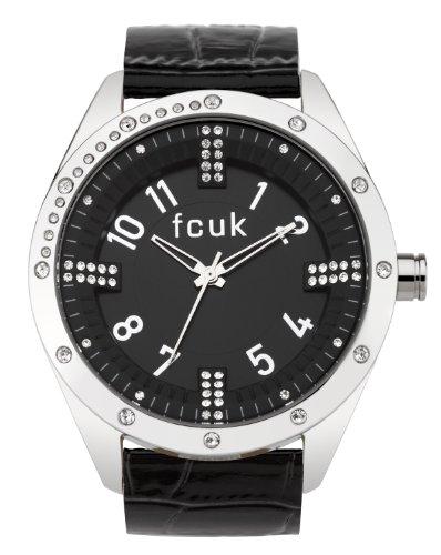 FCUK Damen Armbanduhr Analog Edelstahl schwarz CD95 14FCX