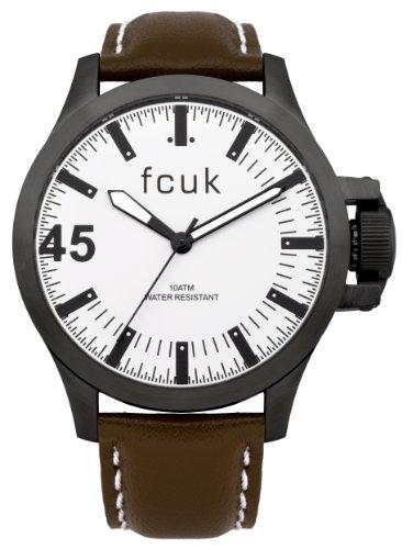 FCUK Herren Armbanduhr Analog leder braun FC1140T