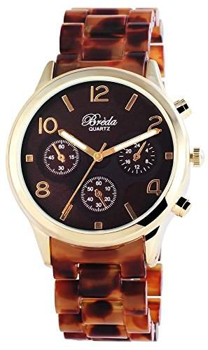 Bredá Damen-Armbanduhr Analog Quarz verschiedene Materialien 100407000010