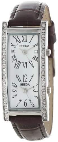 Breda Damen 2185_brown Brown Nicola Dual Time Zone Classic Leather Uhr
