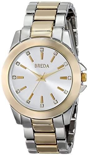 Breda Damen 2389D Rhinestone-Accented Two-Tone Armbanduhr