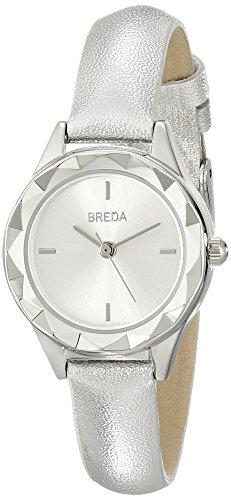 Breda Damen 2435b Analog Armbanduhr Display silber Quarz