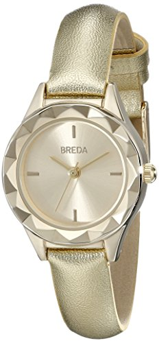 Breda Damen 2435d Analog Anzeige Quarz Gold Armbanduhr