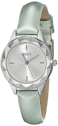 Breda Damen 2435e Analog Anzeige Quarz gruen Armbanduhr