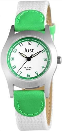 Just Watches Unisex-Armbanduhr Analog Quarz Textil 48-S0011-GR