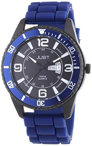 Just Watches Herren-Armbanduhr XL Analog Quarz Kautschuk 48-S10734-DBL