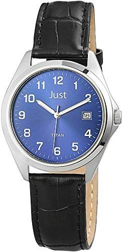 Just Watches Herren-Armbanduhr XL Analog Quarz Leder 48-S11008-BL