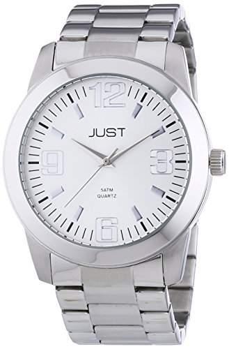 Just Watches Herren-Armbanduhr XL Analog Quarz Edelstahl 48-S11012-SL