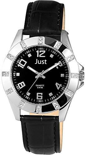 Just Watches Damen-Armbanduhr Analog Quarz Leder 48-S3928-BK