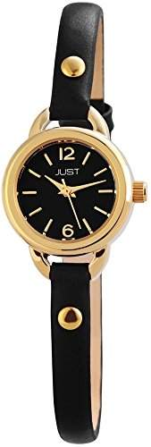 Just Watches Damen-Armbanduhr XS Analog Quarz Leder 48-S4064-GD-BK