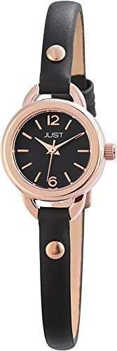 Just Watches Damen-Armbanduhr XS Analog Quarz Leder 48-S4064-RGD-BK