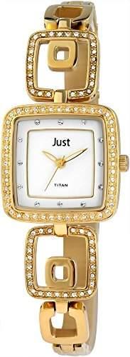 Just Watches Damen-Armbanduhr Analog Quarz Titan 48-S61253-GD