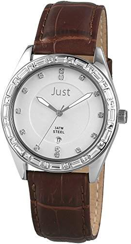 Just Watches Damen-Armbanduhr Analog Quarz Leder 48-S8262A-SL-BR