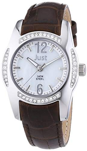 Just Watches Damen-Armbanduhr Analog Quarz Leder 48-S8368WH-BR