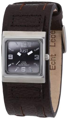 Just Watches Damen-Armbanduhr Analog Quarz Leder 48-S9237L-LBK-BR