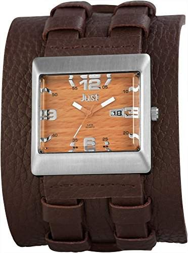 Just Watches Herren-Armbanduhr Analog Quarz Leder 48-S9867BR-BR