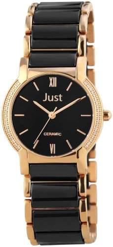 Just Watches Damen-Armbanduhr XS Analog Quarz Keramik 48-S8351L-WH-GD