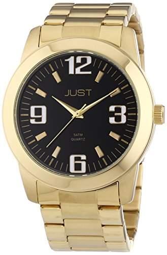 Just Watches Herren-Armbanduhr XL Analog Quarz Edelstahl 48-S11012-GD-BK