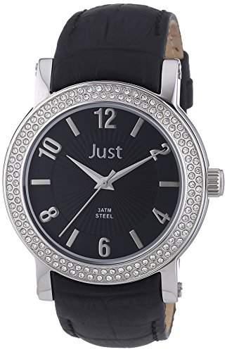 Just Watches Damen-Armbanduhr Analog Quarz Leder 48-S9047-BK