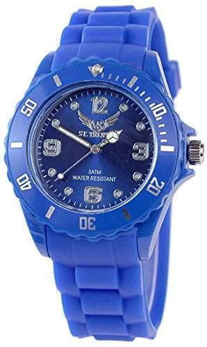 V8 StTropez® Silikonarbanduhr in Dunkel Blau