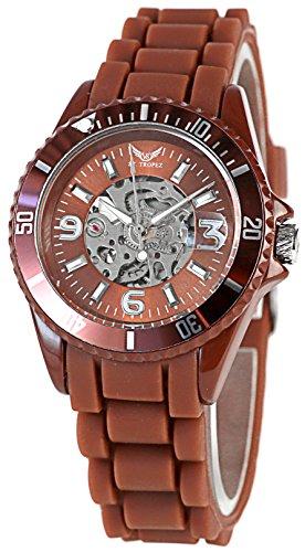 Exklusive St Tropez Sportliche Automatik Uhr Braun