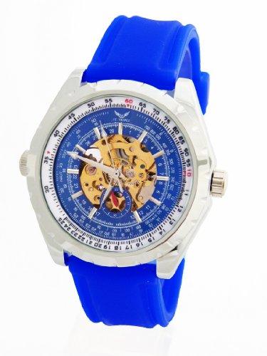V8 St Tropez Automatik Flieger Uhr Blau F4 5