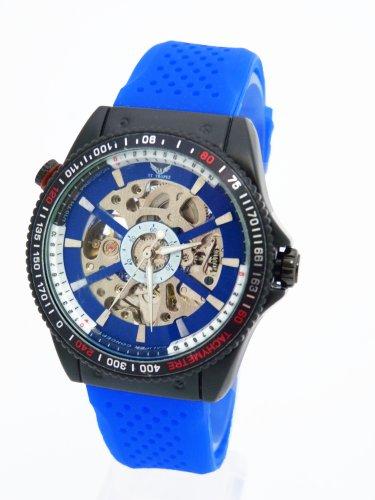 V8 St Tropez Sportliche Automatik Flieger Uhr in Dunkel Blau G0 5
