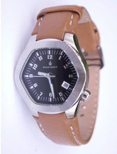Uhr Radiant hexphere Schwarzes Zifferblatt Leder ra02601