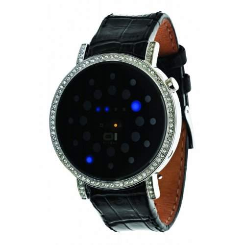 The One Damen-Armbanduhr Digital Quarz One Size, schwarz, silberschwarz