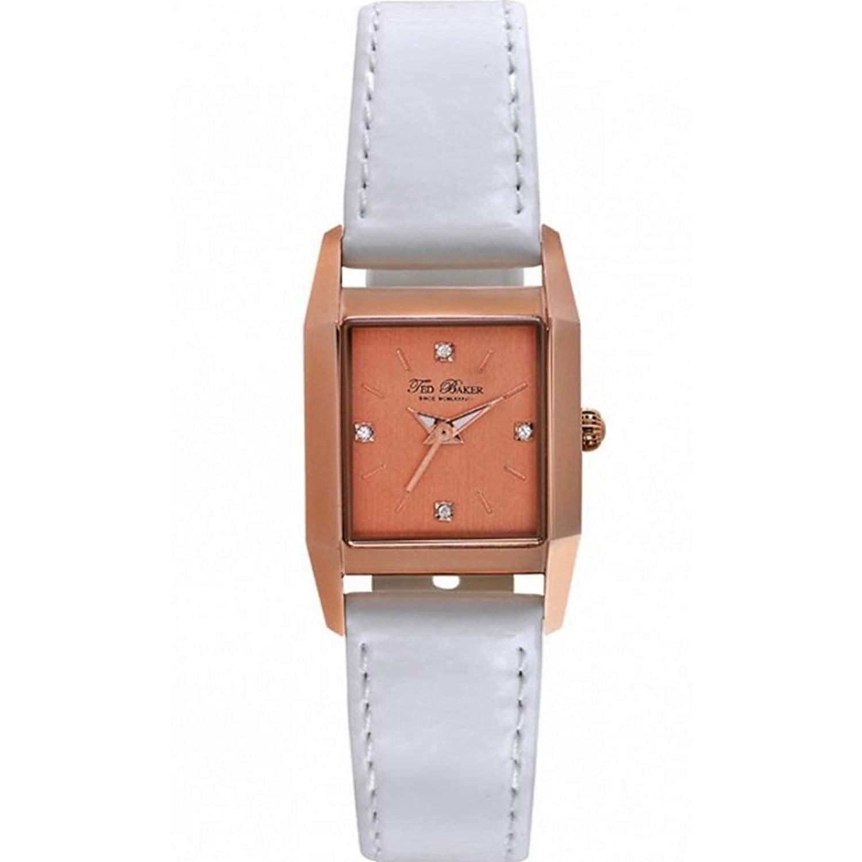 Ted Baker Damen-Armbanduhr Analog Leder Weiss TE2099